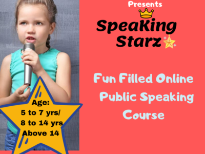 Public Speaking – Certified (Live Zoom Group 1:6) (Class 1st-11th)